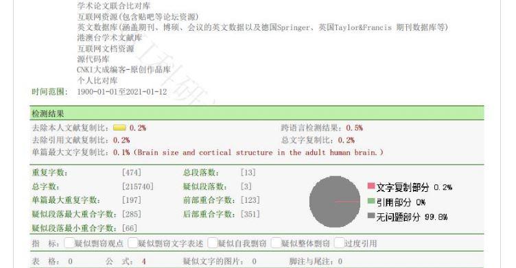 知网查重系统的论文检测报告怎么看?